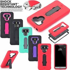 Hybrid Slim Heavy Duty Rugged Shockproof Stand Hard Phone Case Cover For LG G6