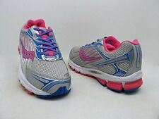 Saucony Girls ProGrid Ride 6 Running Shoes /Silver/Pink/Blue SZ New