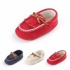 Baby Anti-Slip Soft Sole Leather Shoes Toddler Girl Tassel Moccasin Sandals Cute