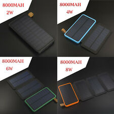 8000mAh Solar Power Bank USB Portable Solar Battery Charger LED Camping Light