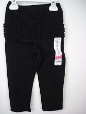 NWT Jumping Beans Infant Baby Girls Solid Ruffled Pants Black 24 Months