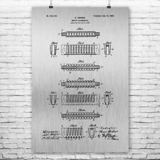 Hohner Harmonica Poster Patent Print Gift Patent Print Patent Poster Wall Art