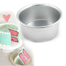 Round Sandwich Cake Bake Tin Pan Mold Mould Kitchen Bakeware Aluminum 8 Sizes AT