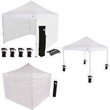 EZ Pop Up Aluminum 10x10 Pop up Canopy Tent with Sidewalls and Weight Bags