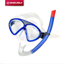 WIN.MAX PVC scuba diving snorkeling freediving mask snorkel set for adult