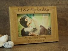 Personalised Engraved Wooden Photo Frame Daddy, Dad, Fathers Day, Birthday Gift