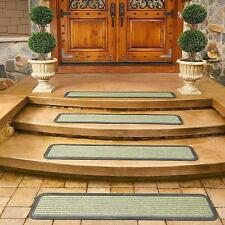 """2pc or 4pc Rubber Backed Heavy Duty Outdoor 48"""" Stair Treads Non Slip 3 Colors"""