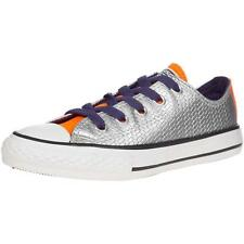 Converse Chuck Taylor All Star Shine Junior Silver Synthetic Trainers