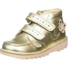 Kickers Kick Hi F Infant Gold Leather Ankle Boots