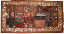 INDIAN SARI PATCH WORK EMBROIDER TABLE RUNNER TAPESTRY WALL HANGING DECORATION