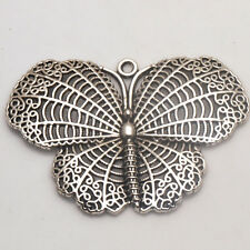 Hollow Butterfly Tibetan Silver Charms Pendants Crafts Jewelry Findings Alloy