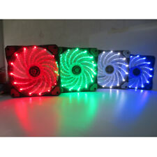 12V 3-4Pin 15 LED Light Quite Clear 120mm PC Computer Case CPU Cooling Fan