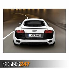 AUDI R8 V10 CAR 8 (AC896) CAR POSTER - Photo Picture Poster Print Art A0 to A4
