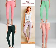NWT ADRIANO GOLDSCHMIED Sateen Modal Blend Ankle Zip Legging Cropped Jeans $220