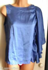 Pied A Terre Frill Batwing Sleeve Shell Top - Sky Blue - BNWT
