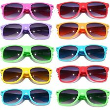 Wayfarer Sunglasses 10 Bulk Pack Lot Neon Color 80's Retro Classic Party Glasses
