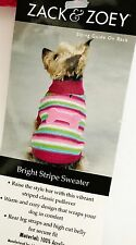 EAST SIDE COLLECTION - Bright Stripe Dog Sweater - ADORABLE - Different Sizes