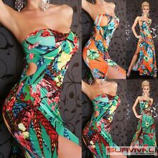 Womens New Floral Maxi Dress Size 8-10 Strapless Cocktail Evening Summer Fashion