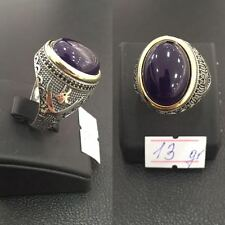 STERLING 925 SILVER HANDMADE MENS JEWELRY & AGATE - AQEEQ MENS RING
