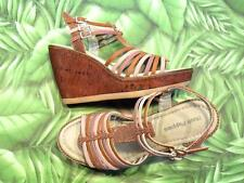 HUSH PUPPIES NEW Sandals CORES QTR STRAP Pink Multi Nubuck Wedge Womens
