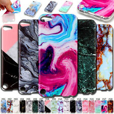 For Apple iPhone Back Shell Cover Stone texture Protective Case Soft TPU Skin