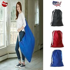 Laundry Bag Nylon Shoulder Strap Heavy Duty Clothes Basket Carry College Laundry