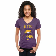 LSU Tigers Women's Purple Institution Tri-Blend V-Neck T-Shirt - College