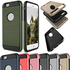 Dual Shockproof Rubber Thin Brushed Hard Case for iPhone 4s 5 5s SE 6 6s Plus