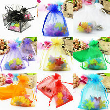 25P Sheer Organza Wedding Party Favor Gift Candy Bags Jewelry Pouches 9X7/9X12cm