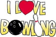 I Love Bowling White T-Shirt Sizes Small to 3XLarge ~ Funny ~