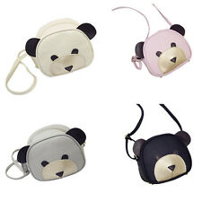 1Pcs Girl's HOT Shoulder Bag PU Leather Cute bear face Women Handbags