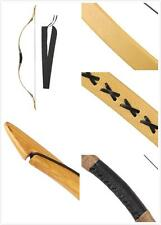 Handmade Yellow Cow Leather Archery bow Traditional Longbow Recurve Bow 20-110lb
