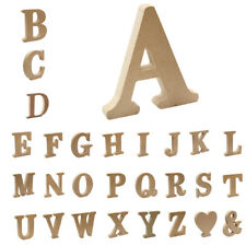 Wooden Alphabet Craft Letters Name Literacy Education for Nursery Wall Decor