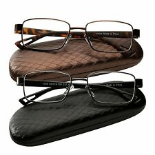 2 Pair Reading Glasses Metal Rim Readers for Men and Women Glasses for Reading
