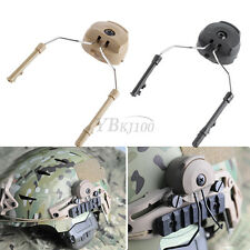 2Pcs FAST Helmet Airsoft Peltor Comtac Rail Suspension Adapter Headset  Support