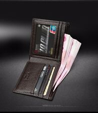 Wallet Leather Short Men Purse Bifold Card S Holder Fashion Genuine Pocket Id