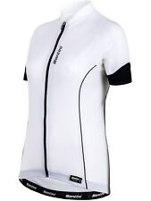 Santini White Ora Womens Short Sleeved Cycling Jersey