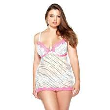 Fantasy Lingerie Curve Pushup Polka Dot Babydoll With Matching Hipster Panty