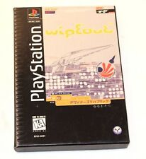 Rare HTF Vintage Working OOP Wipeout Playstation PS1 - Long Box! Complete In Box