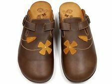 Orthaheel Deva Chocolate Leather Clog w/ Arch Support Adjustable Straps size 11*