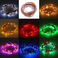Solar Powered Warm White 10M 100LED Copper Wire Outdoor String Fairy Light A#