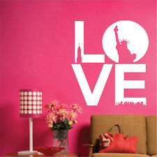 Art New York wall Stickers - Love With Statue Of Liberty Sticker Mural Decal