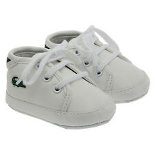 1pair Newborn Baby Pre-Walker White Soft Sole Pram Shoes Trainers 0-18 Months