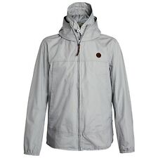 Pretty Green Festival Jacket Cotton Hooded Stone Grey - Small - XL Available