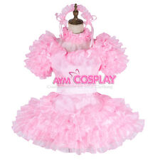 lockable Sissy satin maid dress cosplay TV/CD Tailor-Made [G1993]
