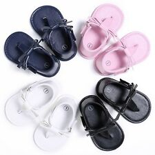 Kids Baby Girls Flip-flops Bowknot Sandal Shoes Prewalker Beach Slippers 0-18M