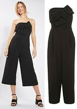 Topshop Tie Bandeau Jumpsuit in Black Sizes 8 to 16