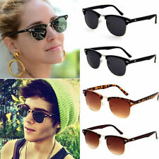 Polarized Clubmaster Mens Womens Unisex Way Retro Vintage Sunglasses Eyewear