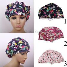 Cotton Flower Pattern Scrub Cap Medical Surgical Surgery Hat Unisex One Size