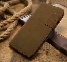 Magnetic Olive Magnetic Flip Wallet Swede Leather Case For Iphone 6 6s {An285